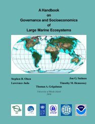Handbook on the Governance and Socioeconomics of Large Marine ...