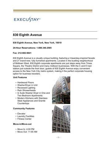 830 Eighth Avenue Execustay