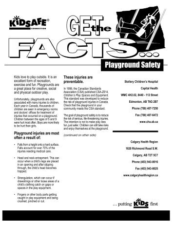 Standards for the Tennessee Playground Information Sheet