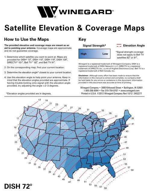 Satellite Elevation & Coverage Maps - Winegard