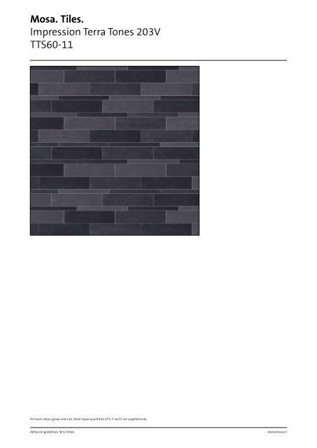 Mosa  Tiles  Impression Terra Tones 203V TTS60-11