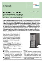 PRIMERGY TX300 S2 - Kastl GmbH
