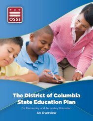 The District of Columbia State Education Plan - osse