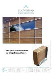 Principe de fonctionnement de la façade active ... - Charpente concept