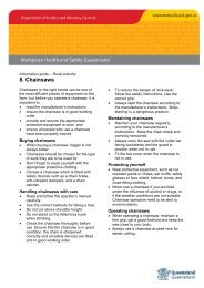 Rural fact sheet 8. Chainsaws - Queensland Government