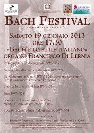 Conservatorio di Como, Festival Bach 2013