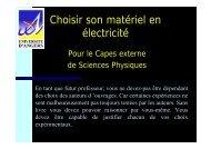 Choisir son matériel en électricité - Université d'Angers