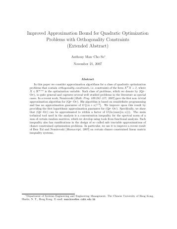 Improved Approximation Bound for Quadratic Optimization Problems ...