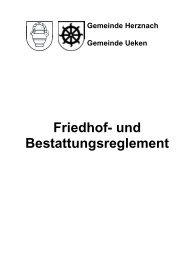 Friedhof- und Bestattungsreglement - Gemeinde Herznach