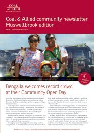 Coal & Allied Community Newsletter Muswellbrook edition December