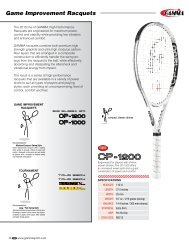 Game Improvement Racquets