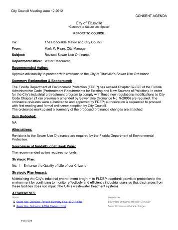 City of Titusville - OrdinanceWatch
