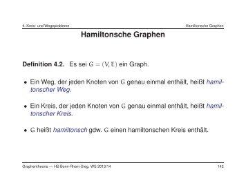 Hamiltonsche Graphen