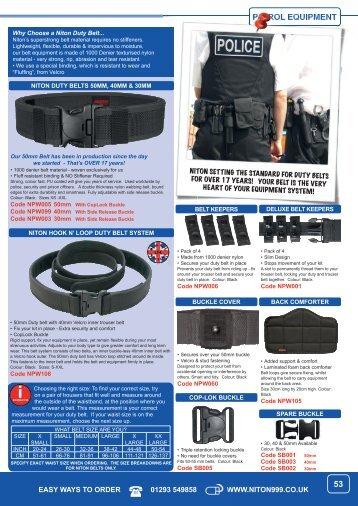 PATROL EQUIPMENT 53 - Niton 999 Equipment