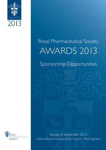 RPS Awards 2013.pdf - Royal Society of Chemistry