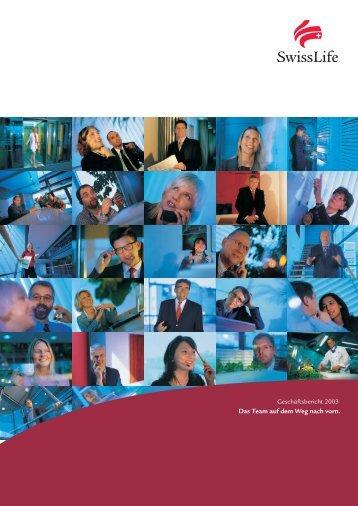 Geschäftsbericht 2003 - Swiss Life
