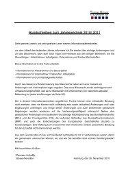 Rundschreiben zum Jahreswechsel 2010/ 2011 - Steuerberater ...