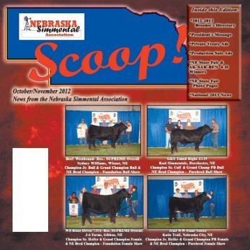 2 The Scoop Fall 2012 - Nebraska Simmental Association
