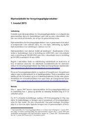 Elprisstatistik for forsyningspligtprodukter 1. kvartal ... - Energitilsynet