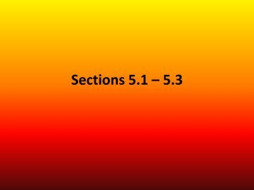 Sections 5.1 – 5.3