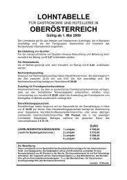LOHNTABELLE OBERÖSTERREICH - Lohnbenchmark