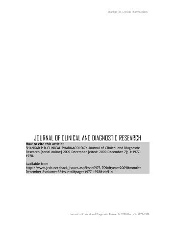 Book review: Clinical Pharmacology - JCDR