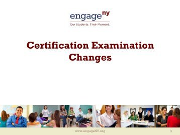 Certification Examination Changes - Higher Ed