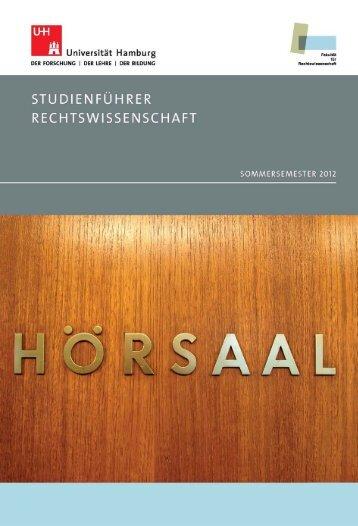Sommersemester 2012 - Fakultät für Rechtswissenschaft ...