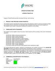 Specifications Item New Co.De - Fiandre