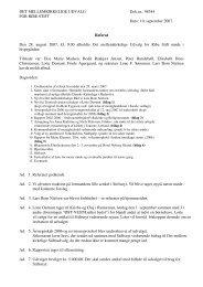 10. september 2007. Referat Den 28. august 2007, kl ... - Ribe Stift