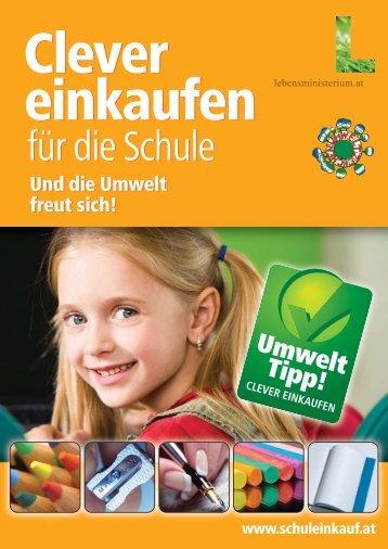 A4 Broschüre Clever einkaufen - Clever einkaufen für die Schule