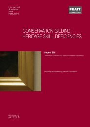conservation gilding - International Specialised Skills Institute