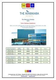The Marmara Hotel fiyat listesi için tıklayınız