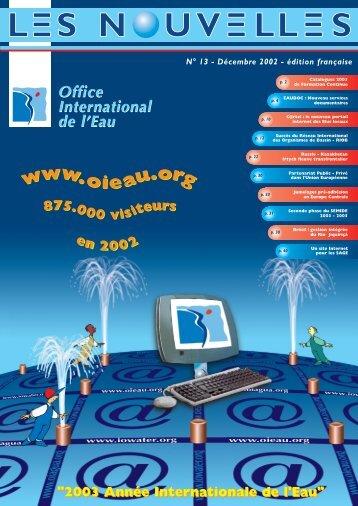 N°13 - Décembre 2002 - Office International de l'Eau