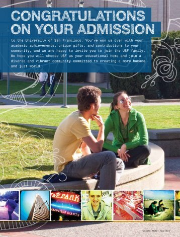 Congratulations on Your admission - University of San Francisco