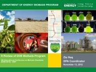 Bioenergy Technologies Office Overview - EERE