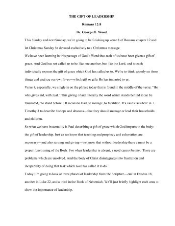 34 THE GIFT OF LEADERSHIP.pdf - Dr. George O. Wood