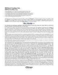 HillMark Funding Ltd. JPMorgan - Irish Stock Exchange
