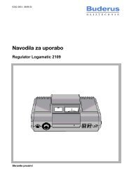 Navodila regulator R2109 - Buderus