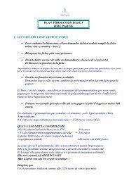 plan formation base 3 1ere partie 1/ accueillir les participantes