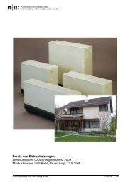 Ersatz von Elektroheizungen Zertifikatsarbeit CAS Energieeffizienz ...