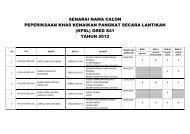 (kpsl) gred s41 tahun 2012 - Jabatan Kemajuan Islam Malaysia