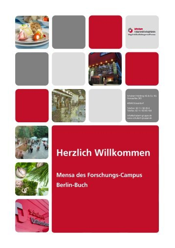 Bankettmappe - Campus Berlin-Buch