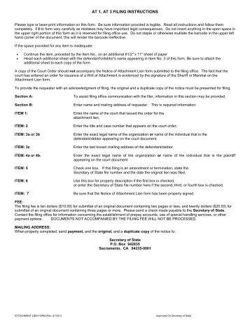 California Ucc 1 Form Ucc Financing Statement Amendment Form Ucc3 ...