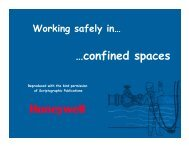 Working Safely in Confined Spaces - Thermo Fisher