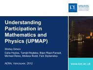 Understanding Participation in Mathematics and Physics (UPMAP)