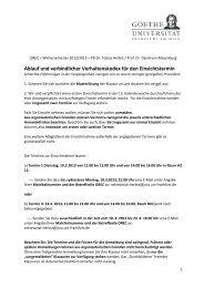 Ablauf und verbindlicher Verhaltenskodex für den Einsichtstermin