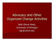 Advocacy and Other Advocacy and Other Organized Change ...