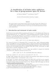 A classification of all finite index subfactors for a class of group ...