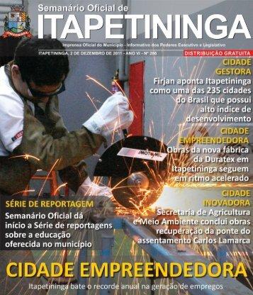 cidade solidária - Prefeitura Municipal de Itapetininga